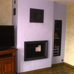 Cadre sur mesure avec niche et grille décorative
