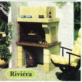 RIVIERA pierre du Gard et briques rouges (100*66*H160cm)