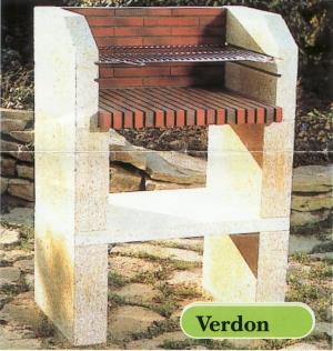 VERDON pierre du gard et briques rouges (78*55*H110cm)